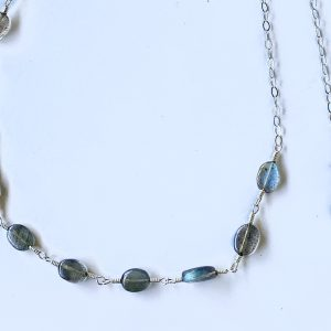 Genuine LABRADORITE OVALS and Moonstones Belly Chain