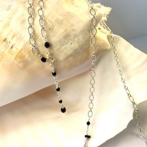 Faceted RAVEN ONYX and Jet Swarovski Decorative Belly Chain