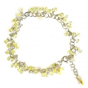 SUMMER YELLOW Swarovski and Teardrop Pearls Sublime Anklet