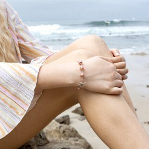 Gorgeous Circled Saltwater PEACHY PINK Pearl Bracelet
